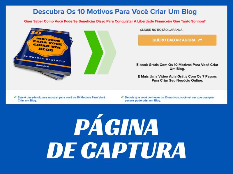 CRIAR NEGÓCIO ONLINE - PÁGINA DE CAPTURA